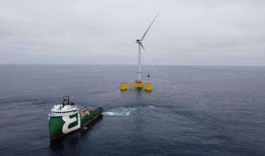 Fugro provides positioning for WindFloat Atlantic semi-submersible floating wind farm