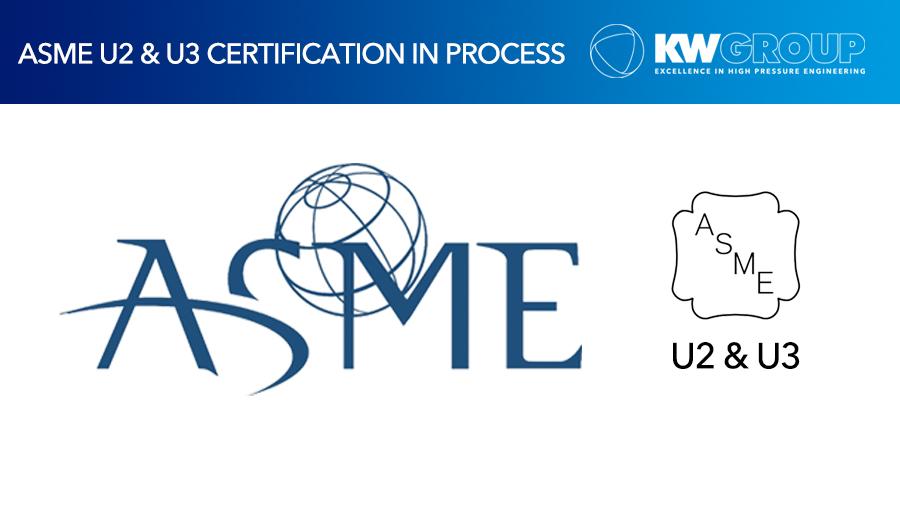 KW Group set to become ASME U2 and U3 pressure vessel certified