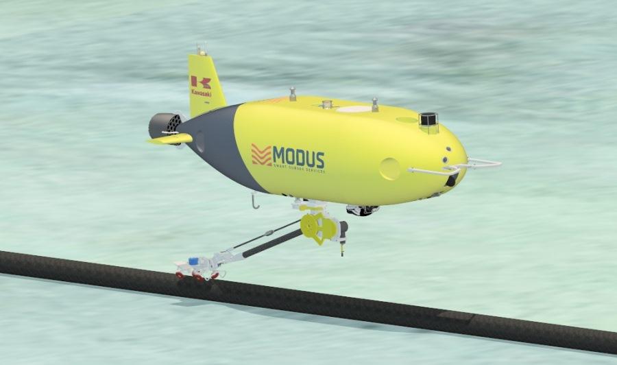 Sonardyne navigation for Kawasaki Heavy Industries' SPICE AUV
